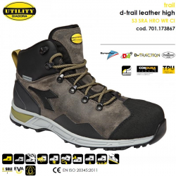 Scarpa Antinfortunistica D-Trail leather booth S3 SRA HRO WR CI - Diadora