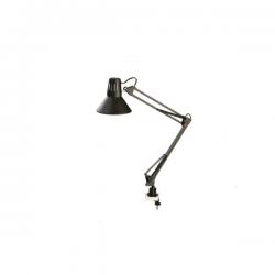 PERENZ LAMPADA DA TAVOLO SNODABILE CON MORSETTO 60W ATTACCO E27 COLORE NERO 40