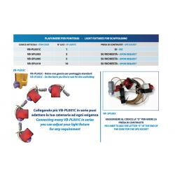 Plafoniera per ponteggi VB-PL001C