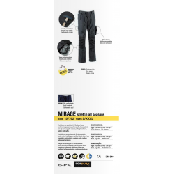 Pantaloni da lavoro Diadora Utility MIRAGE Grigio Acciaio 157762 75070