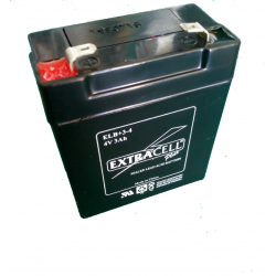Batteria al Piombo 4V 3 Ah PLUS Ricaricabile -EXTRACELL