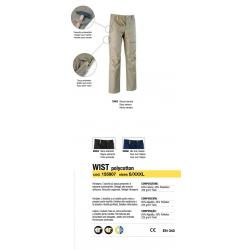 Pantaloni da lavoro Diadora Utility WIST Blu Mar Caspio 155807 60066