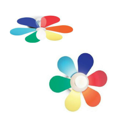 Lampadario a sospensione Ideal Lux Flower PL1 D60 E27 lampadina non inclusa
