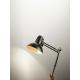 PERENZ LAMPADA DA TAVOLO SNODABILE CON MORSETTO 60W ATTACCO E27 COLORE NERO ORO