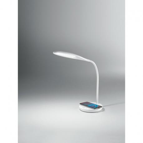 Ego lampada scrivania LED orientabile carica batterie wireless, porta USB Perenz