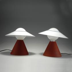 Lampada da tavolo FANTE LINEA LIGHT STILNOVO ROSSO MATTONE 8968