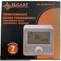 Cronotermostato digitale programmabile 7 giorni Elcart display retroilluminato