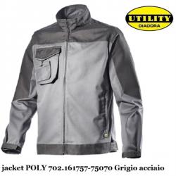 GIACCA DA LAVORO DIADORA UTILITY JACKET POLY GRIGIO ACCIAIO 161757 75070