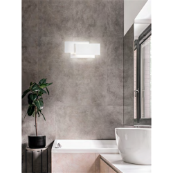 Applique Moderna Serie Dip in Alluminio Colore Bianco Opaco Perenz 6750 BLC