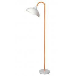 Piantana in Metallo e Gomma Paralume Acrilico Colore Arancione Perenz 6260 AR