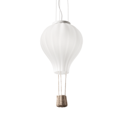 Ideal Lux mod. Dream big sp1 Lampada A Sospensione mongolfiera E27 IP20 BIANCO
