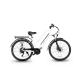 "Bici elettrica Queen 26"" EMG 250W 36V bianco pedalata assistita + Borsa accessori"