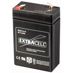 Batteria al Piombo 6V 3.2 Ah Ricaricabile - Extracell